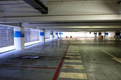 Underground parking mall. Day empty Stock Photography