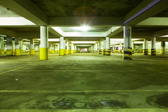 Underground parking. The night  Underground parking light Stock Image
