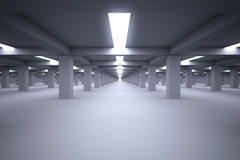 Underground parking Royalty Free Stock Photos