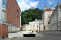 Underground parking in the old town Stock Photos