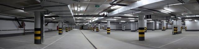 Underground parking panorama Royalty Free Stock Image