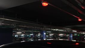 Underground parking panorama stock footage