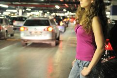 Underground parking place story Stock Image