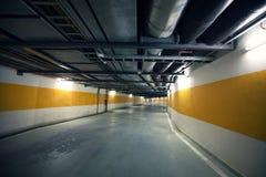 Underground parking road Stock Photography