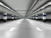 Underground parking. See my other works in portfolio Stock Image