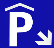 Underground parking sign Stock Photography