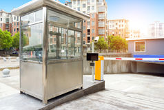 Underground parking toll booths Royalty Free Stock Photo