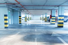 Underground parking. Garage with a lot of cars Royalty Free Stock Image