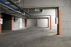 The underground parking Stock Image