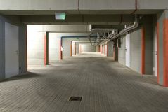 The underground parking Royalty Free Stock Images