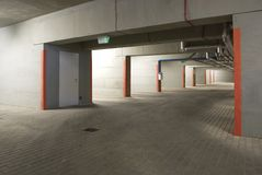 The underground parking Royalty Free Stock Photography