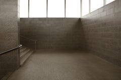 Underground passage. Empty modern underground passage stairway Stock Images