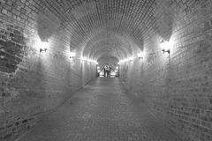 Underground passage Alba Carolina fortress Stock Image