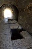 Underground passage in Banias, Israel Royalty Free Stock Photography