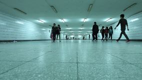 Underground passage in Beijing, Yabao, 2012-05-02 stock video footage