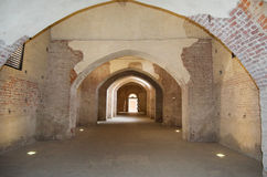 Underground passage of the Castle Stock Images