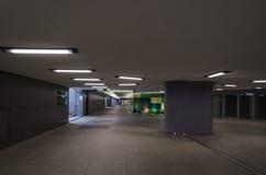 UNDERGROUND PASSAGE. City dwellers in a modern underground passage Royalty Free Stock Image