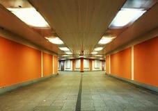 Underground passage. Dark underground passage Stock Images