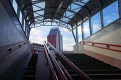Underground passage and exit to street. Royalty Free Stock Image