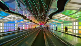 Underground Passage In The Chicago O Hare Airport Royalty Free Stock Image