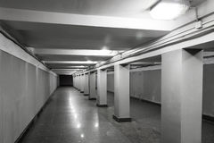 Underground passage interior Royalty Free Stock Photography