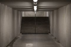 Underground passage. Staircase in underground passage - made from concrete material Stock Images