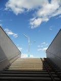 Underground passage steps. Light and sky Stock Image