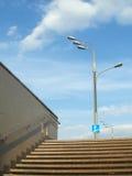 Underground passage steps. Light and sky Stock Photography