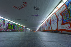 Underground passage. View of underground passage, urban city space Royalty Free Stock Photography