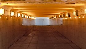 The Underground pedestrian passage. Color version. Royalty Free Stock Images