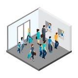 Underground People Isometric Illustration Stock Image