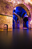 Underground pool with arches Royalty Free Stock Images