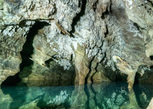 Underground Pool and Cave. Underground Pool reflecting the cave around it in Sterkfontein, South Africa Stock Photography