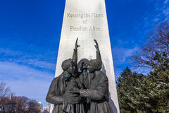 Underground Railroad Monument. Undgeround Railroad Monument located in Windsor, Ontario Royalty Free Stock Photo