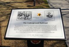 Underground Railroad Remembrance Plaque stock image