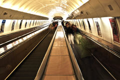 Underground railway station Stock Photography
