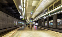 Underground railway station of Malmo. Sweden Stock Photo