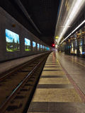 Underground Railway Station. Overview in CPH subway Stock Image