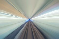 Underground railway tunnel. Abstract speed motion for train Stock Photography