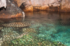 Underground reflection. The photo shows the cave in the Grotto Bay, Bermuda Royalty Free Stock Image