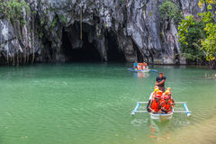 Underground River boat tour Royalty Free Stock Photo