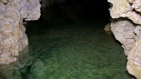 Underground river on the cave. HD stock video