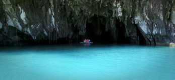 Underground river sabang palawan philippines Royalty Free Stock Images