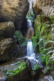 Underground river and waterfall in Romania Stock Photography