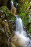 Underground river and waterfall in Romania Royalty Free Stock Photo