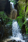 Underground river and waterfall in Romania Royalty Free Stock Image