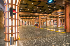 Underground road Resorts World Sentosa on Sentosa Island, Stock Photos