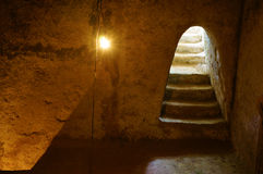 Underground room at Cu Chi tunnel royalty free stock photos