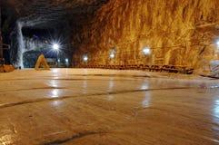 Underground salt mine. Praid (Parajd) underground salt mine. Transylvania, Romania Royalty Free Stock Images