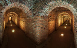 Underground secret passage. In the old fort Stock Image